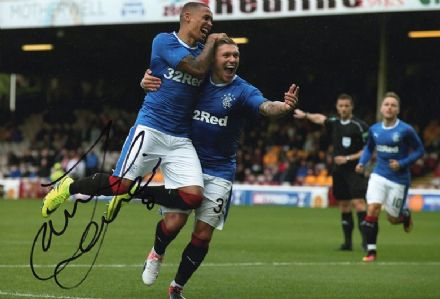 James Tavernier, Rangers, signed 12x8 inch photo.